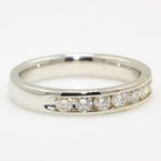 Stunning Ladies 14K White Gold Diamond 0.56CTW Ring Band Jewelry