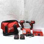 Milwaukee 18 Volt Cordless Compact Impact Driver Drill 2601-20 & 2650-20 Driver Bit Set 29 PCS