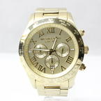 Michael Kors Chronograph Gold-Tone Stainless Steel Bracelet Watch MK8214