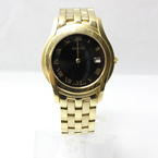 Authentic Gucci 5400 Gold Tone Bracelet Black Dial Swiss Made Wrist Watch
