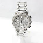Men's Bulova 96E03 Diamond White Dial Chronograph Stainless Steel Watch