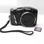 Canon Powershot SX150 IS 12x Optical Zoom Black Digital Camera W-16GB SD Card Free