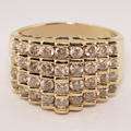 Phenominal 2.00ctw Diamond Yellow Gold Cocktail Fashion Band