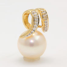 Vintage Estate Classic 14K Yellow Gold White Pearl Pendant