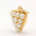 Vintage Estate 14K Yellow Gold Seed Pearl Heart Pendant