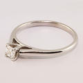 Charming Princess Diamond Solitaire 14K White Gold Engagement Ring