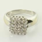Brilliant Vintage 18K White Gold Diamond Fashion Ring