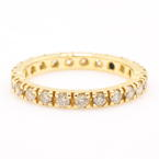 Fine Vintage 14K Yellow Gold Diamond 0.70CTW Eternity Anniversary Ring Band