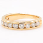 Classic Estate 14K Yellow Gold Brilliant Diamond 1.00CTW Ring Band