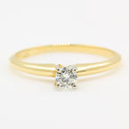Estate Classic 14K Yellow Gold Diamond Solitaire Engagement Ring