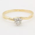 Fine Vintage Estate Classic 10K Yellow Gold Diamond Solitaire Engagement Ring
