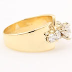 Fine Estate 14K Yellow Gold Diamond 1.25CTW Right Hand Ring