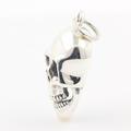 Modern Estate .925 Sterling Silver 3D Skull Pendant