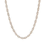 "NEW Classic 14K White Gold  Rope 16"" Spring Ring Clasp Chain"