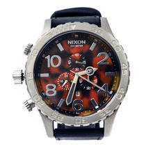 Men's Nixon Simplify The 51-30 Chrono Tortoise Dial Stainless Steel Watch