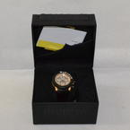 Invicta Men's 11167 Sea Hunter Chrongraph Black Leather Rose Tone Dial Watch