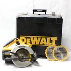 "DeWalt 24 Volt Cordless 6 1/2"" Circular Saw DW007 With 2 24 Carbide Tooth Blades"