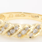 Classic 10K Yellow Gold Diamond Anniversary Right Hand Ring Band