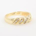 Classic 10K Yellow Gold Diamond Anniversary Right Hand Ring Band