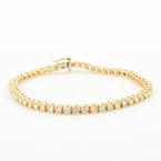 "Classic Ladies Estate 14K Yellow Gold Diamond 2.75CTW Tennis 7"" Bracelet"