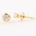 NEW Classic 14K Yellow Gold Diamond Stud Screw Back Earrings Jewelry