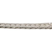 "Modern Estate 925 Sterling Silver Flat Snake Herringbone 16"" Spring Ring Clasp Chain"
