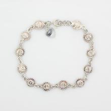 Estate Sterling Silver 925 Sun Accent 7 inch Bracelet Jewelry