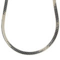 "Modern Estate 925 Sterling Silver Flat Snake Herringbone 20"" Lobster Claw Clasp Chain"