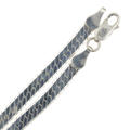 "Modern Estate 925 Sterling Silver Flat Snake Herringbone 20"" Lobster Claw Clasp Chain"