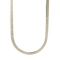 "Modern Estate 925 Sterling Silver Flat Snake Herringbone 20"" Spring Ring Clasp Chain"