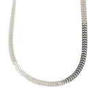 "Modern Estate 925 Sterling Silver Flat Fancy 24"" Lobster Claw Clasp Chain"