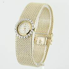 Authentic Vintage Rolex 14K Yellow Gold Round Diamond Ladies Watch
