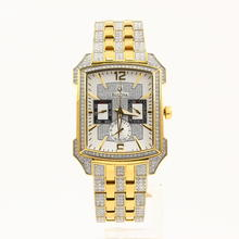 Bulova Men's 98C109 Swaroski Crystal Gold Plated Stainless Steel Quartz Watch