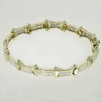 "Classic Vintage Estate 14K yellow gold 1.26ctw Diamond 7"" Bracelet"