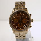 Ladies Michael Kors MK-5547 MK5547 Espresso Dial Stainless Steel Watch