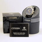 Handsome Men's Citizen Eco Drive H820-S087104 AT9010-52E World Time A-T Watch