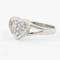 Cute Ladies Sterling Silver 925 Heart Zirconia Ring