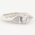 Fancy Ladies Sterling Silver 925 Zirconia Ring