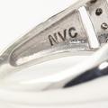 Vintage Ladies Sterling Silver 925 Peacock Topaz Diamond Ring Jewelry