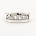 Modern Estate Men's 925 Silver Diamond Sz 10.5 Ring Band Jewelry