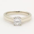 Classic 14K White Gold Princess Cut 0.59CTW Diamond Solitaire Engagement Ring