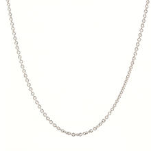 "Classic Sterling 925 Silver 18"" Cable Chain Jewelry"