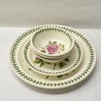 Portmeirion Botanic Roses Dinner Plates & Bowls 5 Piece Set