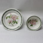Portmeirion Botanic Roses Scarborough Fair Plate & Bowl 2 Piece Set