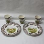 "Spode Woodland Mule Deer 5 Pieces Set - 2 Dinner Plates 10.5"" and 2 Mugs 11 OZ."