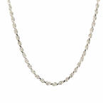 "Striking Mens 26"" Sterling 925 Silver Mens Rope Chain Jewelry"
