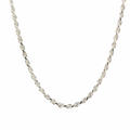 """Striking Mens 26"""" Sterling 925 Silver Mens Rope Chain Jewelry"""