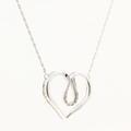 Delightful Sterling 925 Silver Heart Diamond Pendant Necklace