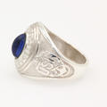 Sterling Silver 925 United States Navy Baby Ring With Blue Stone Ring Size 1.25
