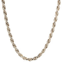 """Lustrous 925 Sterling Silver Rope 19"""" Chain Jewelry"""